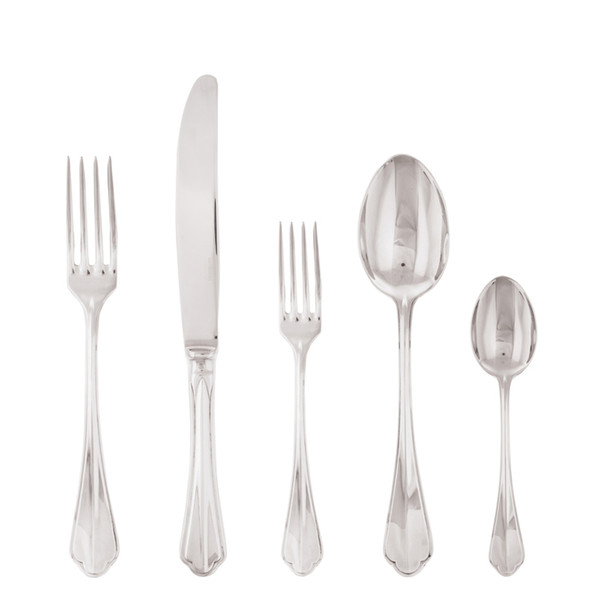 Rome 18/10 Stainless Steel 5 Pcs Place Setting (solid handle knife)