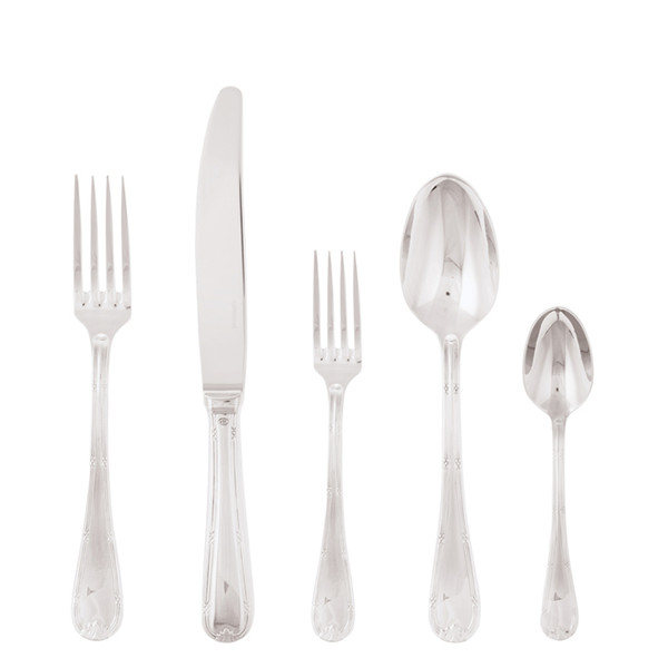 Ruban Croise 18/10 Stainless Steel 5 Pcs Place Setting (hollow handle knife)