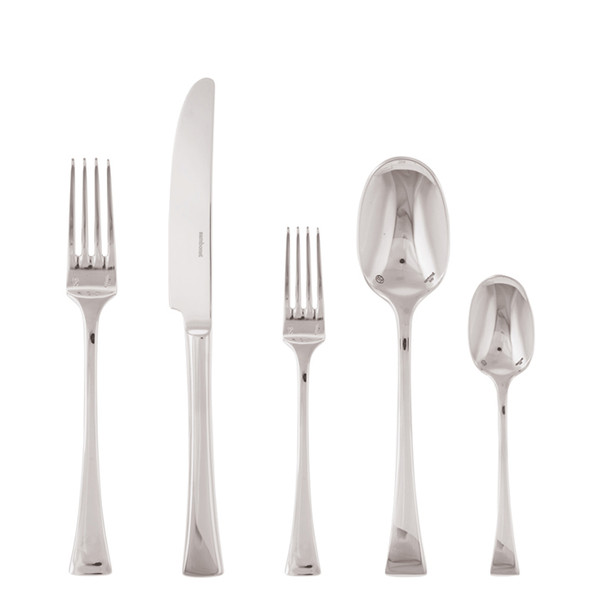 Triennale Silverplated 5 Pcs Place Setting (solid handle knife)