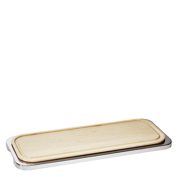 Sambonet Linear Rectangular tray with cutting board, 18 7/8 x 7 1/2 inch