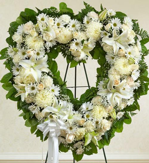 White Standing Open Heart