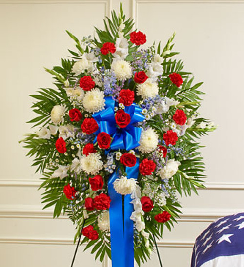 Deepest Sympathy Standing Spray Funeral Flowers