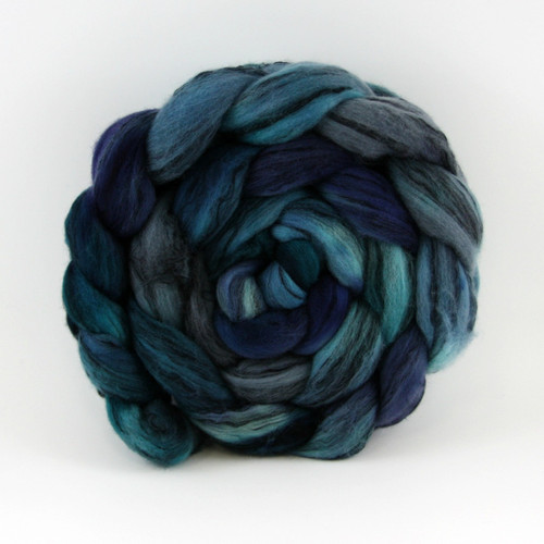 Salt and Pepper Merino Tencel - Swirling Vortex