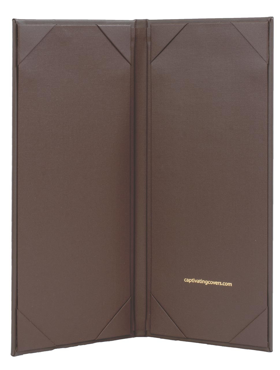 "4.25"" x 11"" Insert, 2-Panel Menu Cover Dark Brown (inside)"