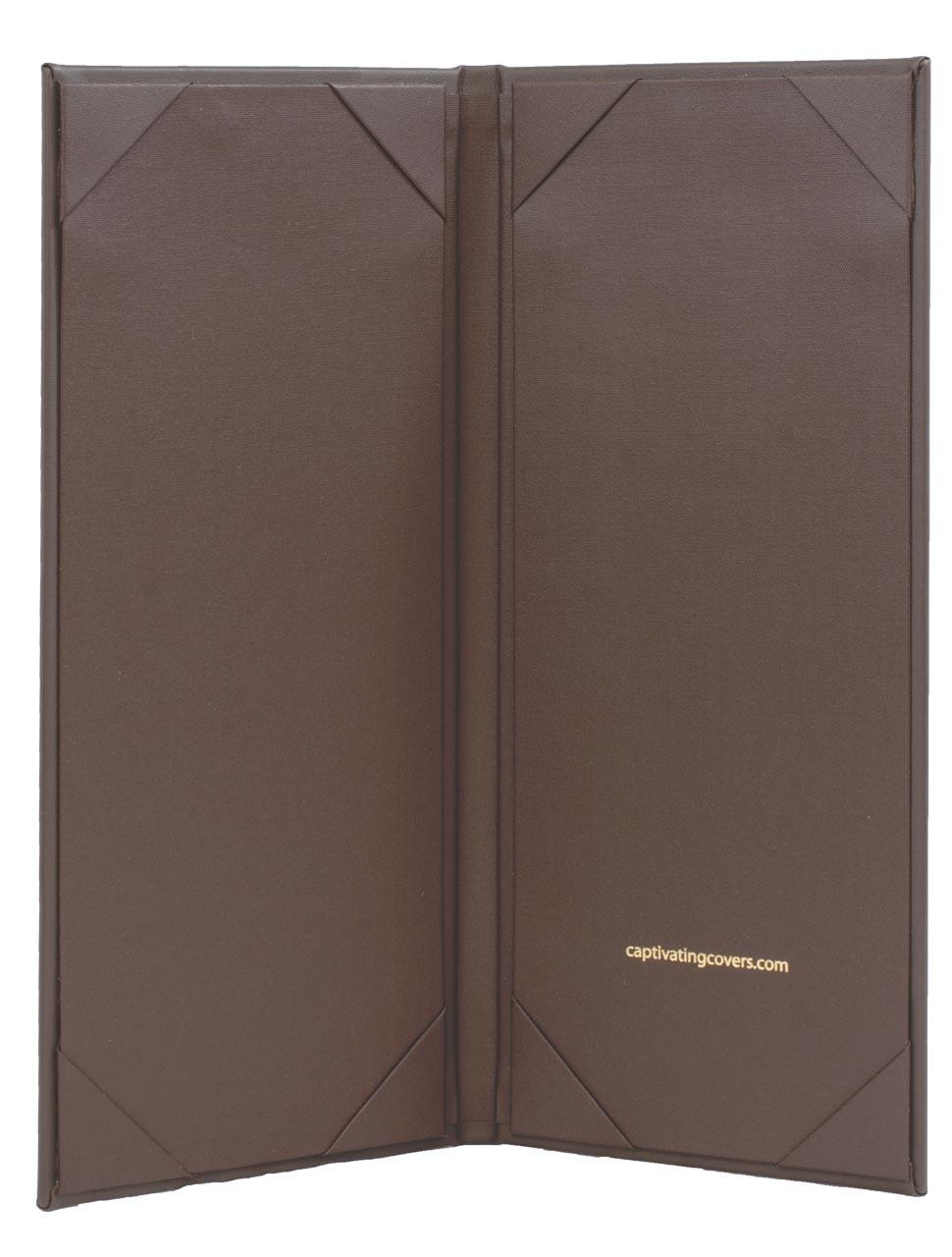 "4.25"" x 11"" Insert, 2-Panel Menu Cover Dark Brown (inside)"