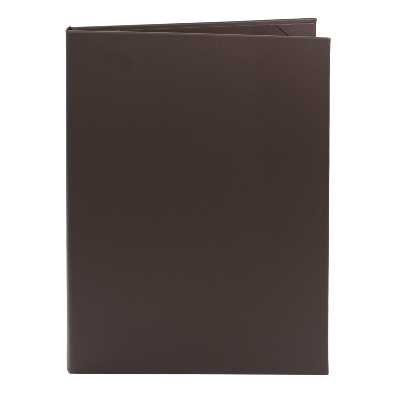 Dark Brown (Chocolate) Menu Cover with 8.5 in. x 14 in. Insert, 2-Panels