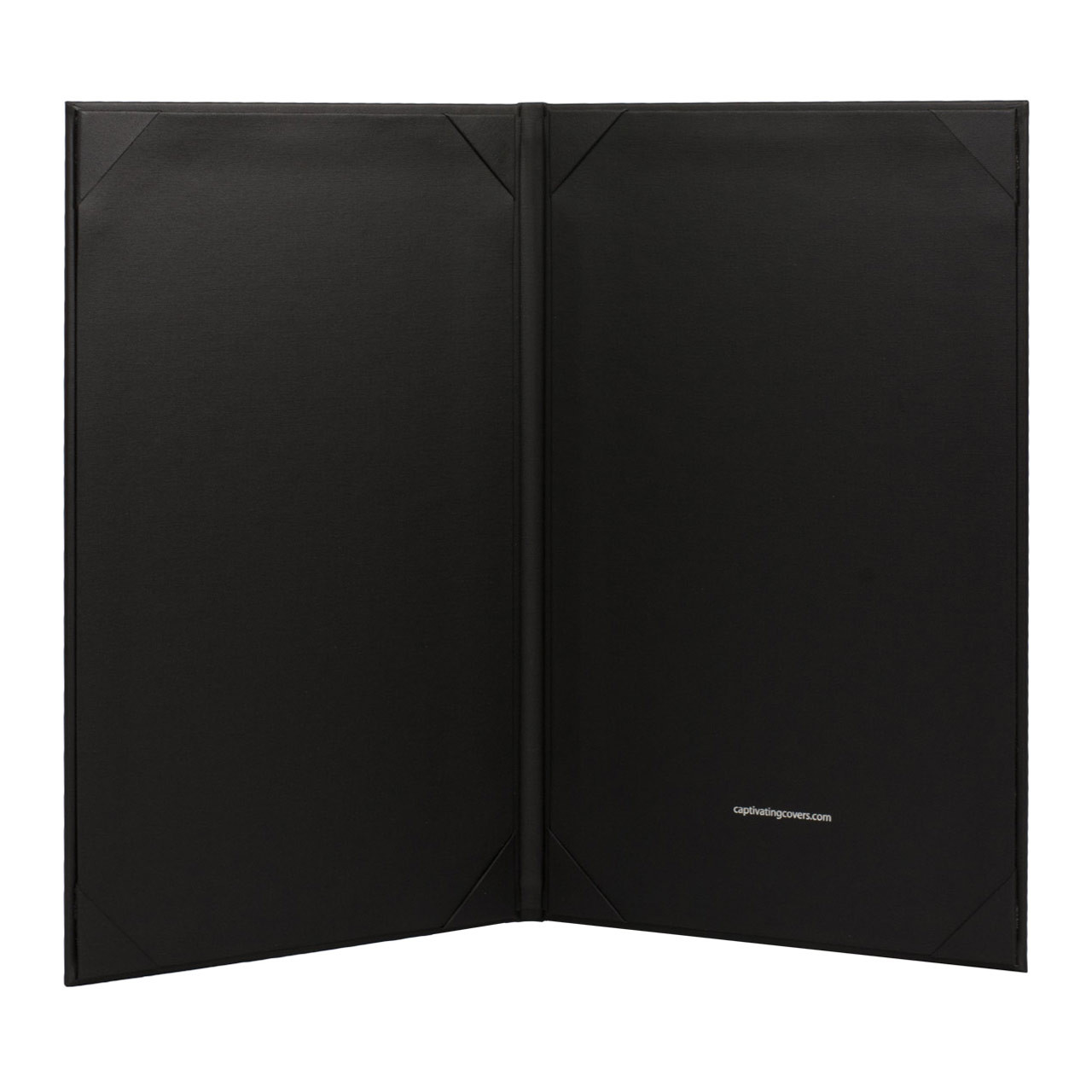 Menu Cover, 2-Panel with 8.5 in. x 14 in. Inserts  Black (inside)