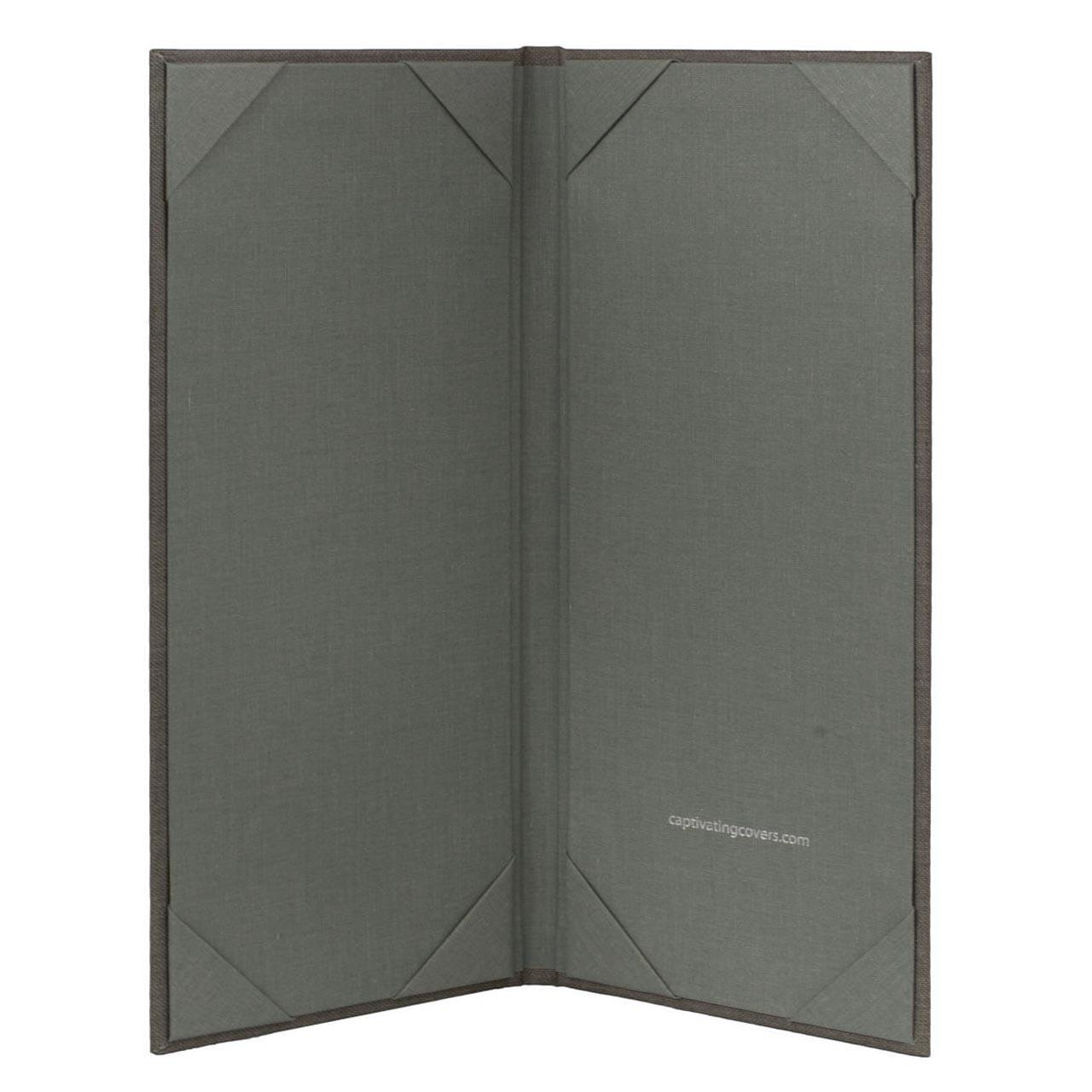 Menu Cover (Gray) 4.25 in. x 11 in. Insert, 2-Panel  (inside)