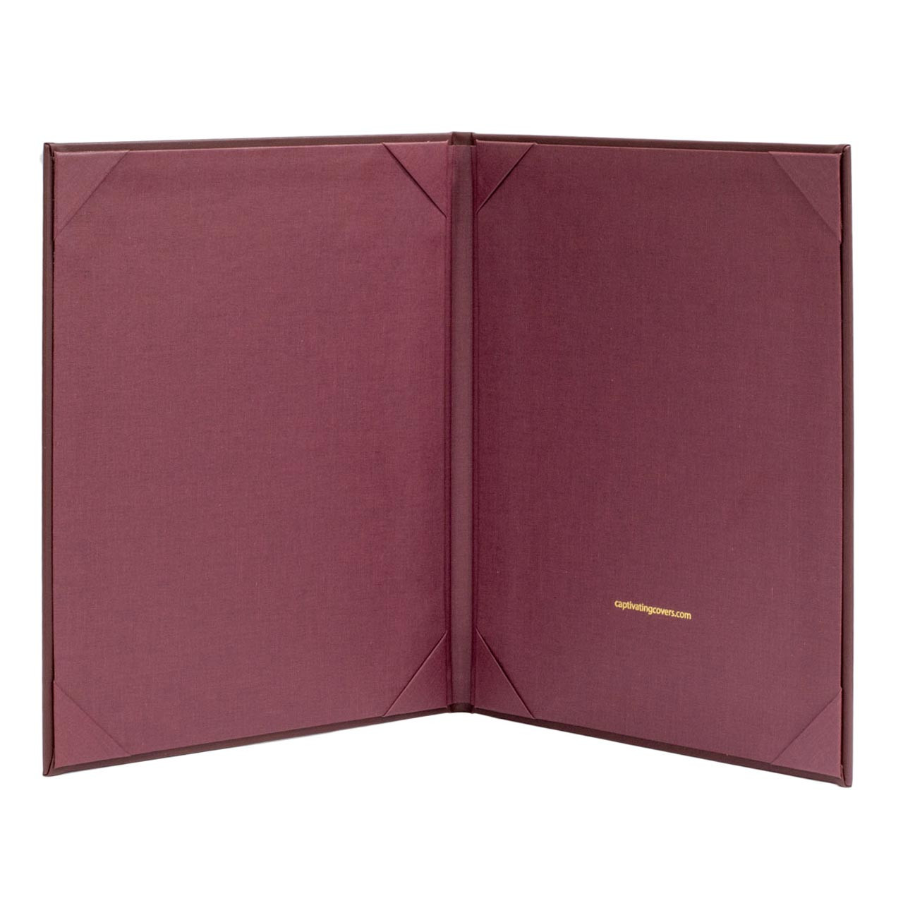 Maroon Menu Cover, 8.5 in. x 11 in. Insert, 2-Panels (inside view)