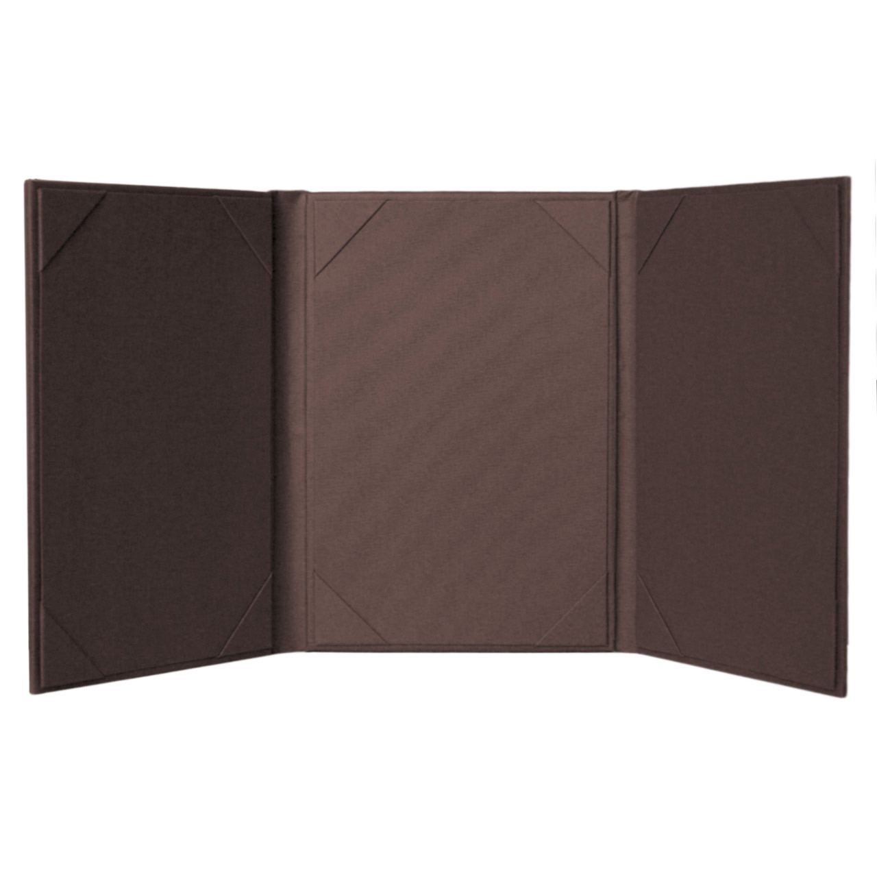 3 Panel Menu Cover - Inside View French Roast Color