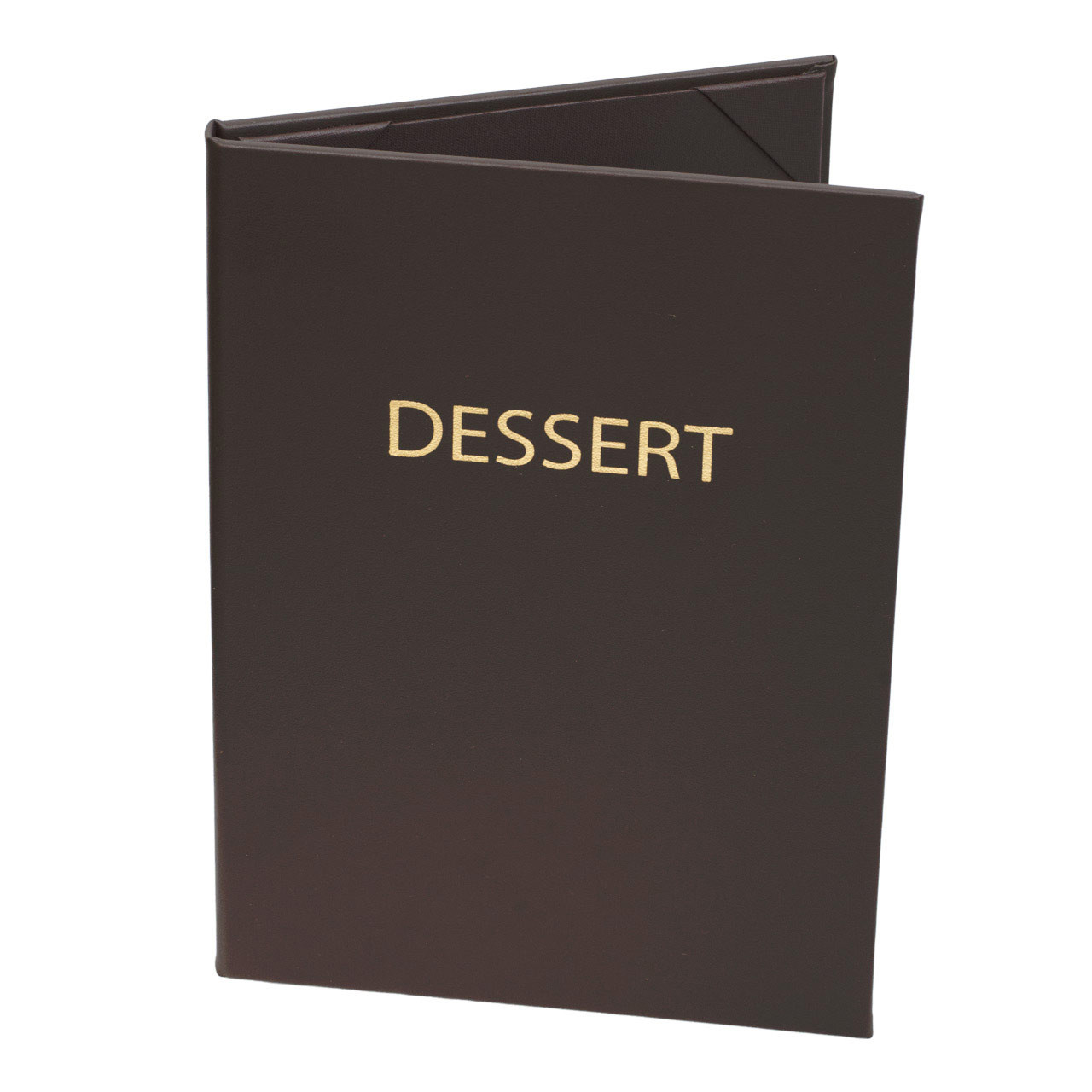 "5 1/2"" x 8 1/2"" Insert Menu Cover 2-panel chocolate brown"
