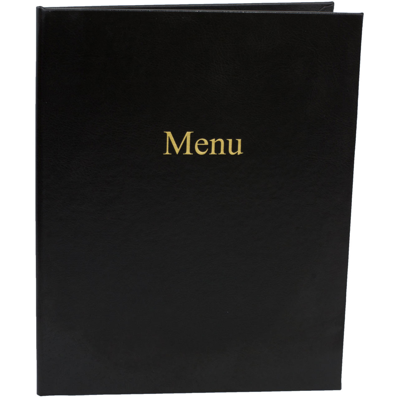 Black Onyx Menu Cover with Standard Gold Foil Stamp