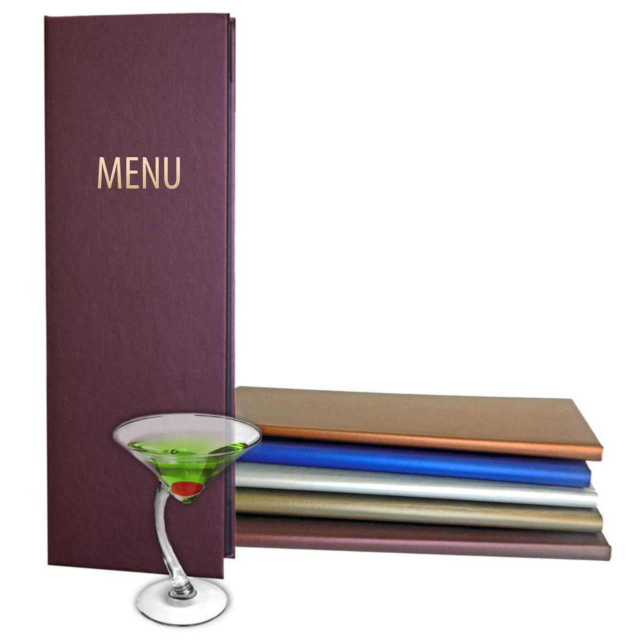 Shimmering Faux Leather Menu Covers