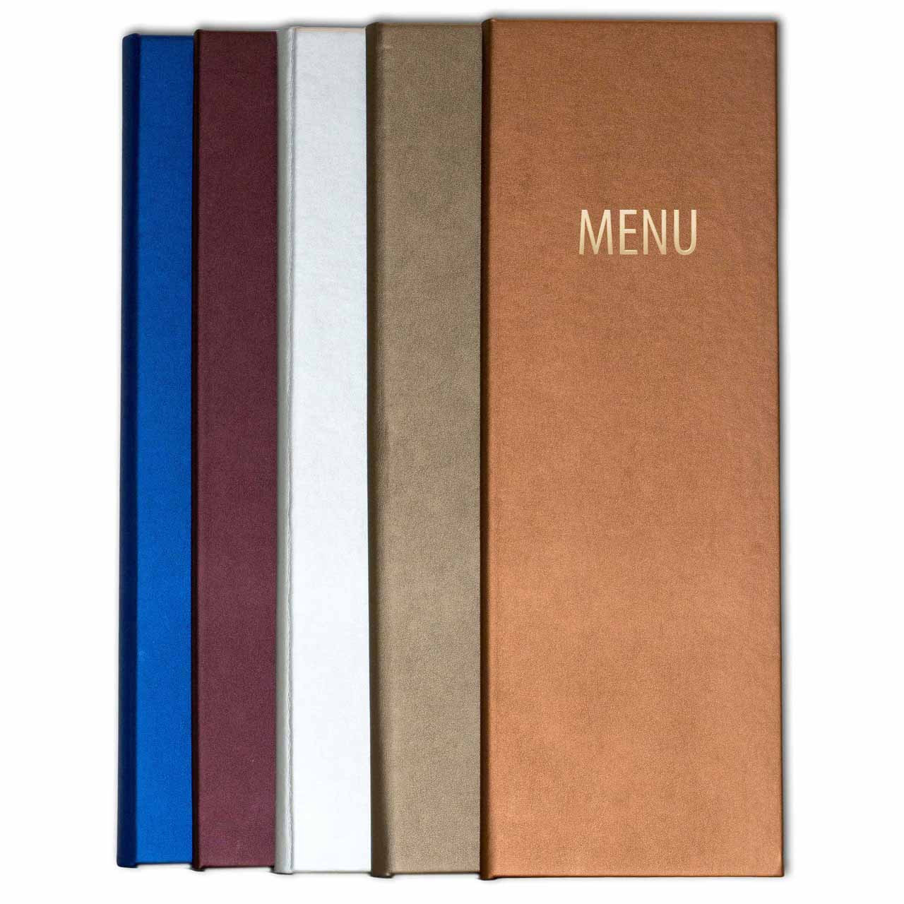 Radiant Faux Leather Menu Covers