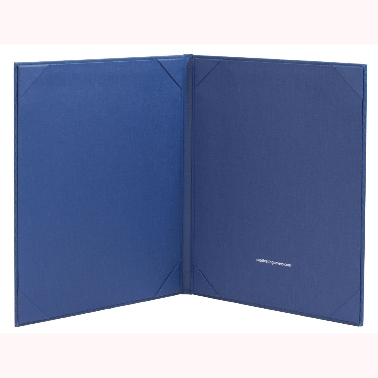 "8 1/2"" x 11"" Insert Menu Cover (inside) 2-panels, Blue"