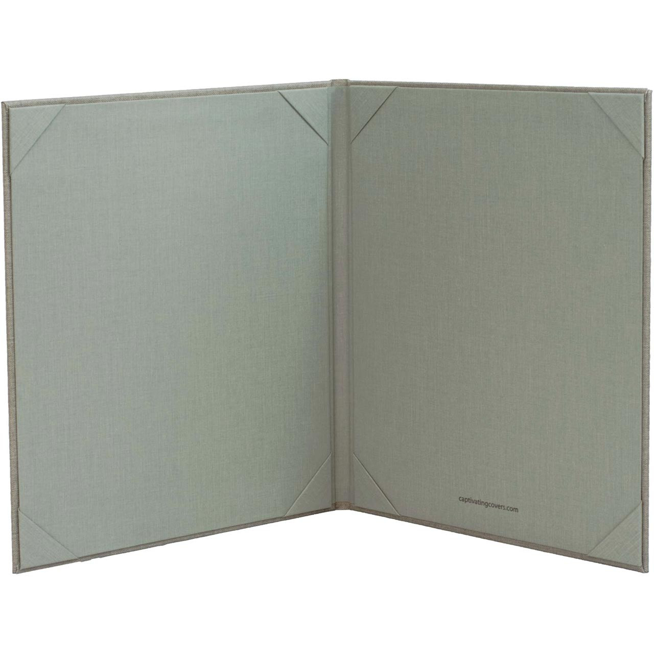 8.5 x 11 Insert, 2-Panel Menu Cover (Gray - inside)