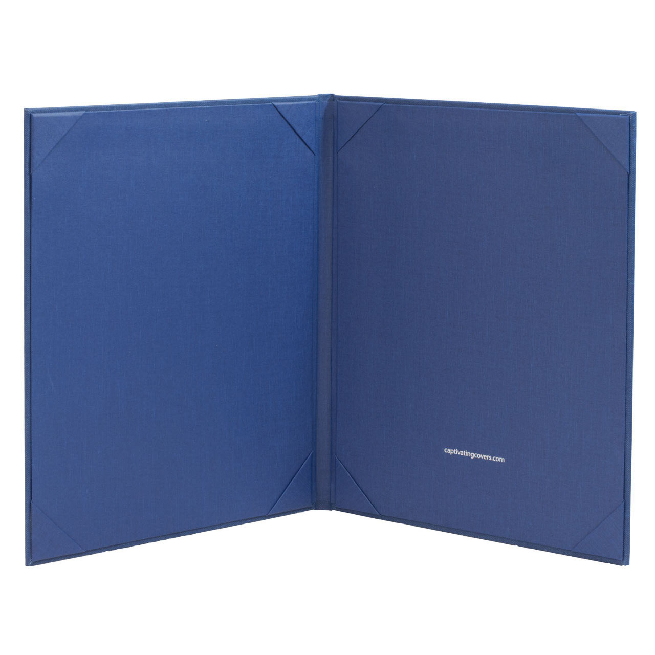 Blue Menu Cover for 8.5 in. x 11 in. Inserts, 2-Panels  (inside)