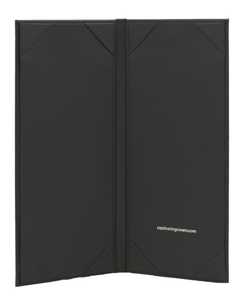 "4.25"" x 11"" Insert, 2-Panel Menu Cover Black (inside)"