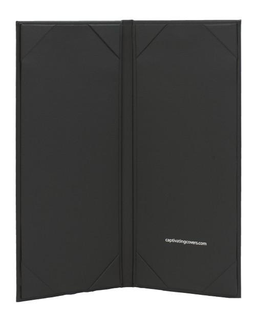 "4.25"" x 11"" Insert, 2-Panel Menu Cover Black (inside)"