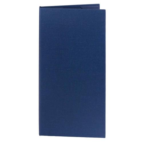 4.25 in. x 11 in. Insert, 2-Panel Menu Cover Blue