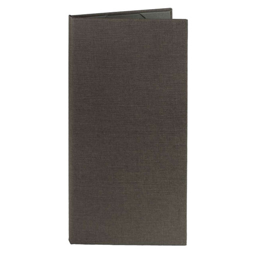Menu Cover (Gray) 4.25 in. x 11 in. Insert, 2-Panel  (outside)