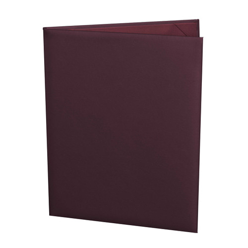 Maroon Menu Cover, 8.5 in. x 11 in. Insert, 2-Panels (outside view)