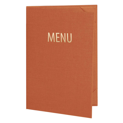 2 Panel Menu Cover - Outside View Santa Fe Color