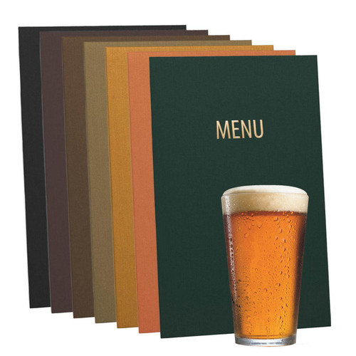 Chef Menu Covers with Cotton Blend Cover Material