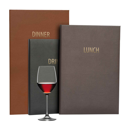 Bravo Traditional Faux Leather Menu Covers
