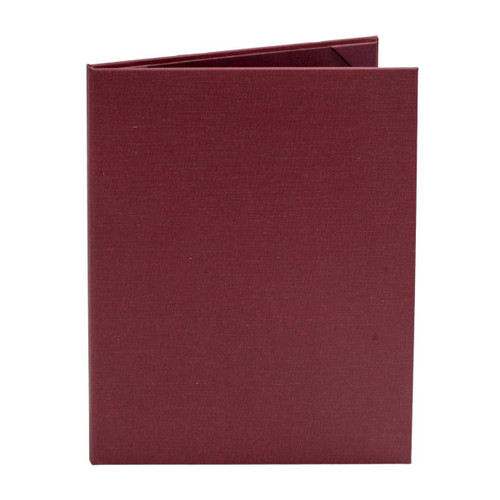 "8 1/2"" x 11"" Insert Menu Cover 2-panels, Burgundy"