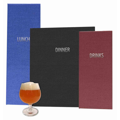 Robust Poly-Cotton Blend Menu Covers