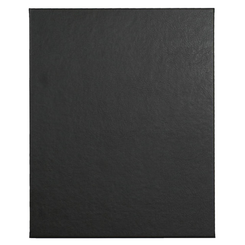 "8 1/2"" x 11"" Insert, 1-Panel Menu Holder Onyx Black"