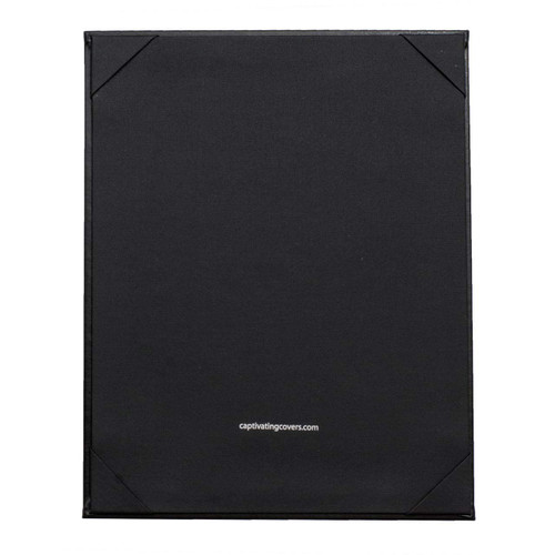 "8 1/2"" x 11"" Insert, 1-Panel Menu Holder Onyx Black (inside)"