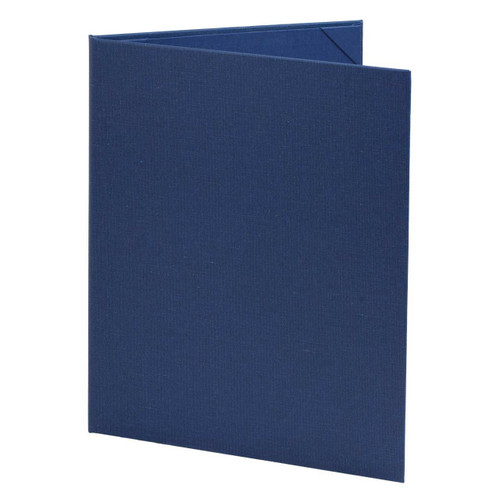 Blue Menu Cover for 8.5 in. x 11 in. Inserts, 2-Panels