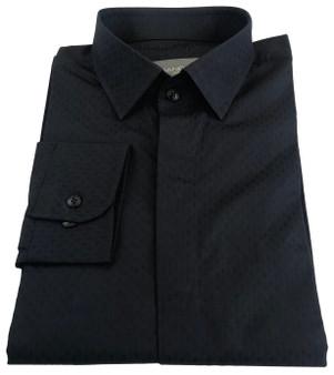 Black Jacquard - 100 % cotton , 110 Gsm