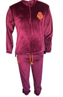 Men Track suit - Velvet -Purple potion