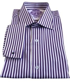 Purple stripe Men Shirt