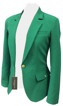 Scuba Crepe single button Blazer -