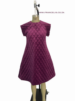 Quilted Velvet  short Dress - Runway collections AW2021