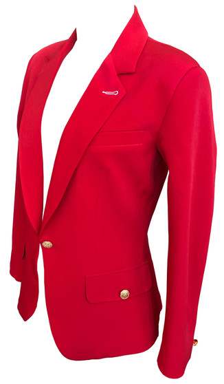 Single button Blazer- fully line -Ribbon Red