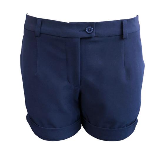 women short- two side pocket-Navy