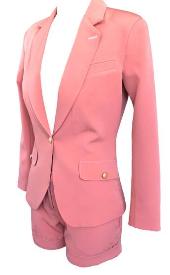 women short- two side pockets-Blush Pink