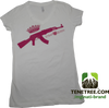 Mginati Brand   Strap Queen Special Edition White&Pink Tee