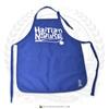 "Hispaniola Port & Trade Company   ""Haitian By Nature"" Royal Blue White Apron"