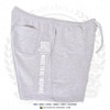 "Hispaniola Port & Trade Company | ""Haitian By Nature"" Grey White Premium Unisex Cotton Fleece Shorts"