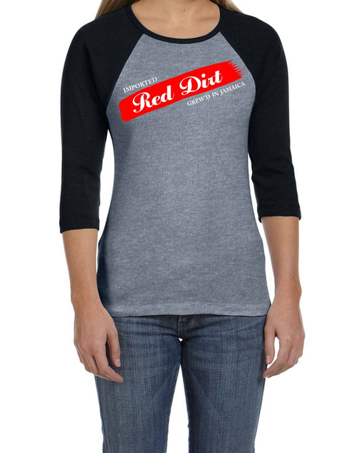 BlackCotton | Red Dirt Premier Raglan Ladies Tee HG-BLK