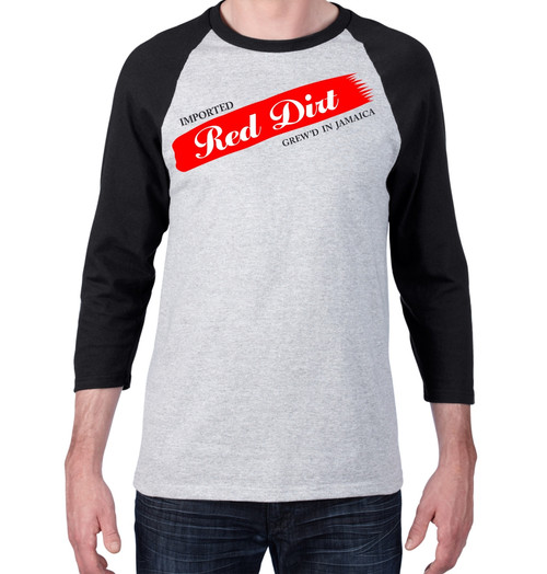 BlackCotton - Red Dirt Premier Raglan Mens Tee SPG-BLK