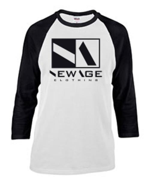 New Age Clothing | Premier WHT-BLK - BLK Ragla