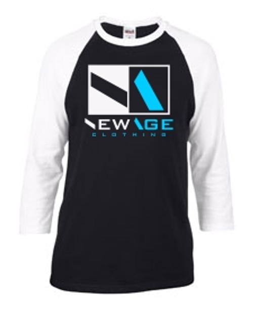 New Age Clothing | Premier WHT-BLK - BLK-BBLU Raglan