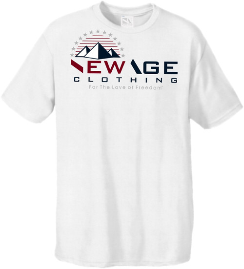 New Age Clothing - TriPy Love of Freedom II White Red-Navy-Grey Softstyle Tees